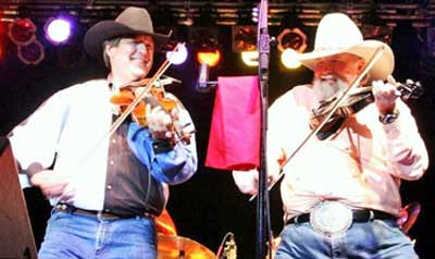 Buddy Terzia playing a duet with Charlie Daniels: Devil Went Down To Georgia